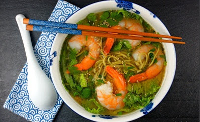 Green Tea in a Tasty Shrimp Soup Receipe