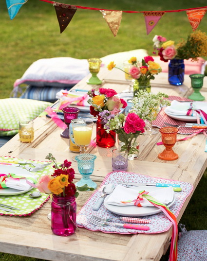 Outdoor Party Spring Tables Decoration For Adults 1