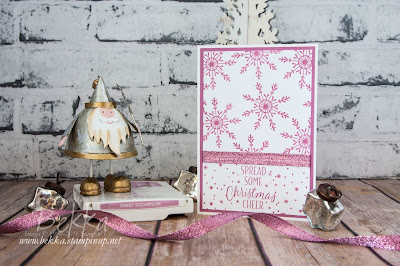 Fast and Fabulous Christmas Card with Sweet Sugarplum Snowflakes & Sparkle  Free Tutorial Available