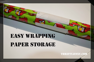 Easy Storage Idea for Wrapping Paper Rolls