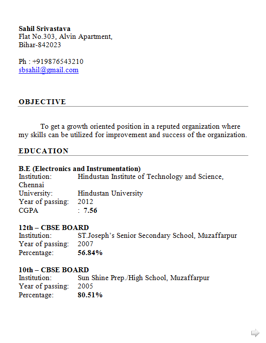 Dynamic Resume Fresher Engineer Resume Format Free Electronics And