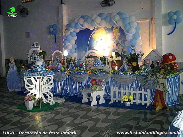 Decoração Tradicional Super-Luxo festa de aniversário infantil feminino tema Cinderela