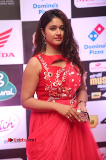 Actress Poonam Bajwa Pictures in Red Long Dress at Mirchi Music Awards South 2015  0009