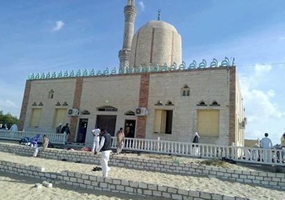 مسجد الروضة بالعريش