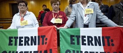 parentes vitimas bandeiras palavras eternit giustizia justiça