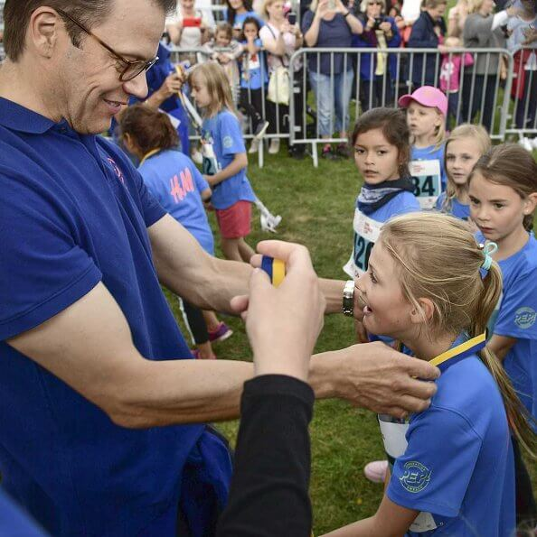Prince Daniel, Crown Princess Victoria, Princess Estelle and Prince Oscar at Pep Day at Haga Palace Park