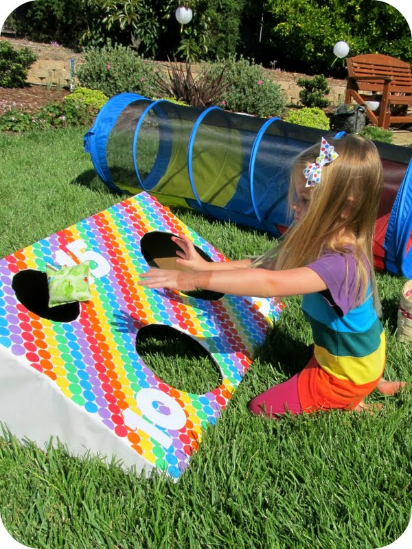 The Bean Bag Toss Was Fun For Kids There No Formal Or Prizes It Just Out I Got Idea From Born In An