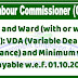 Watch and Ward (with or without arms): VDA (Variable Dearness Allowance) and Minimum wages payable wef 01.10.2018 - Min of Labour & Employment Order