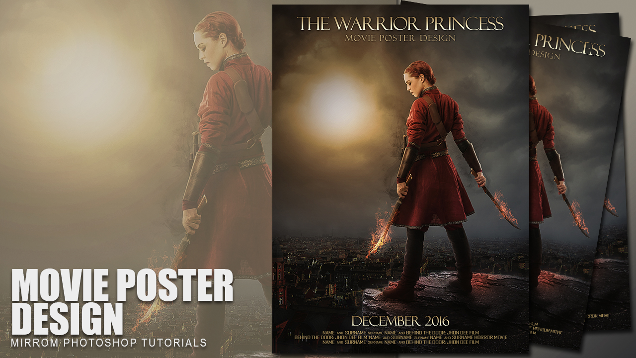 Create This The Warrior Princess Action Movie Poster In Photoshop