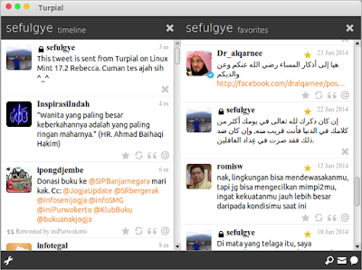 twitter untuk linux twitter di linux twitter for linux turpial twitter client for linux