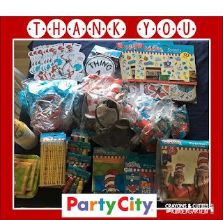 Host a sensational Hat's Off To Reading celebration in honor of Dr. Seuss' birthday with decor and more from Party City! Find colorful, creative accessories, paper products, costumes, and treats that your students will love as they look through their favorite books!