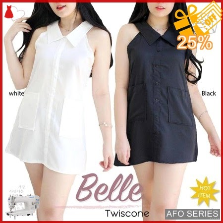 AFO641 Model Fashion Blouse Dress Belle Modis Murah BMGShop