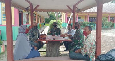 Makmur Komsos Dengan Guru SD Negeri 1 Kuala Baru