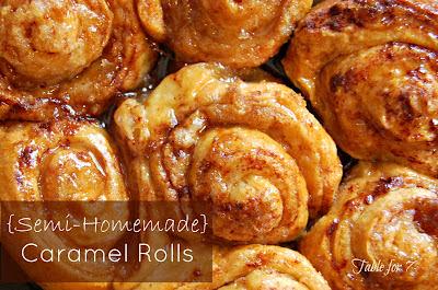 Semi-Homemade Caramel Rolls