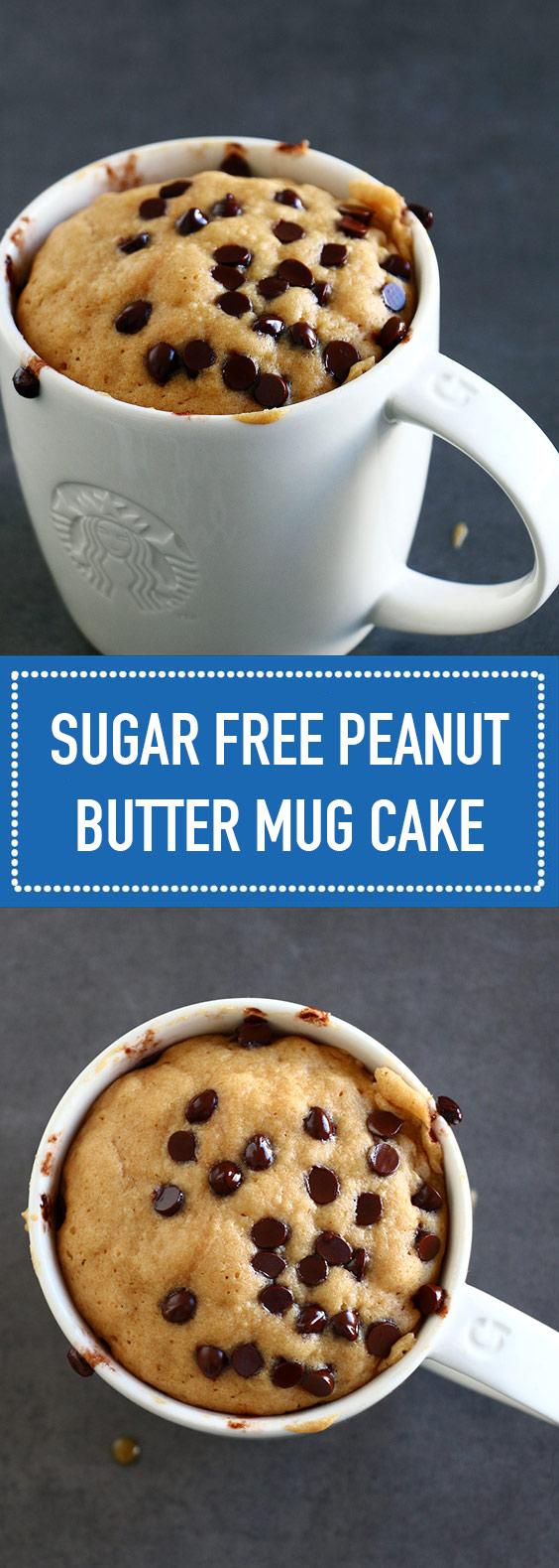 Sugar Free Peanut Butter Mug Cake (Vegan + Gluten Free)
