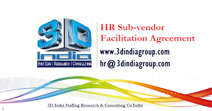 HR Sub-Vendor Agreement Copy I 3DIndiGroup_Recruitment Vendor_Facilitation Agreement I Jan 2020