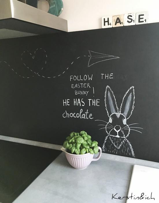 Tafelwand Küche Spritzschutz Tafel Wohnen Ostern