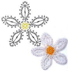 Crochês Da Letícia Flores De Crochê Com Gráfico