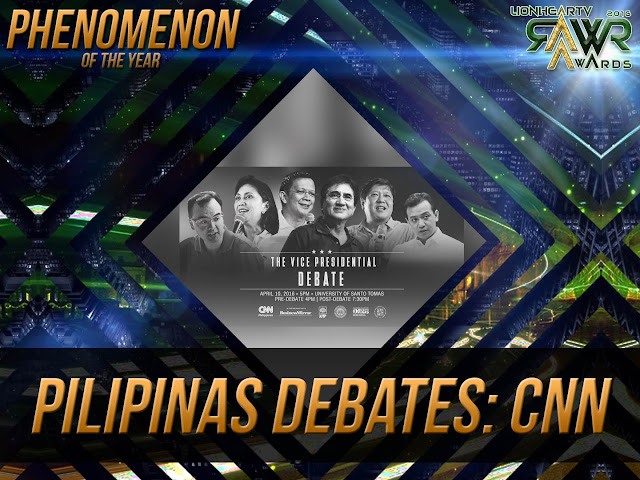 "LION: CNN's ""Pilipinas Debates : The Vice Presidential Debate 2016"" bags Phenomenon of the Year #RAWRAwards2016"