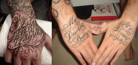HAND LETTERING TATTOO ~ Everything About Tattoos