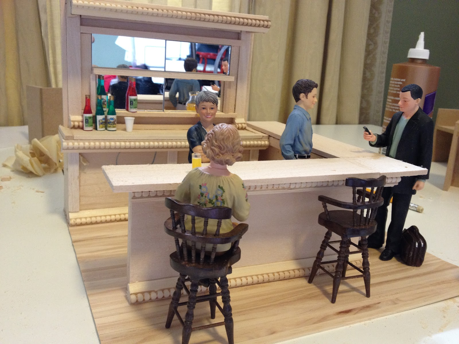 Jocelyn 39 s mountfield dollhouse scratch built dollhouse for How to build a home bar from scratch
