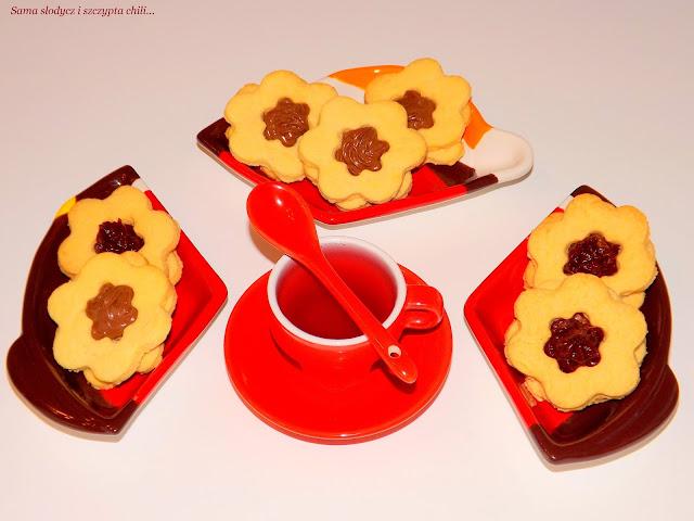 Maślane ciasteczka z czekodżemem i nutellą.