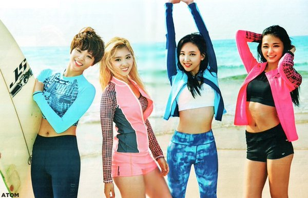 Twice Garner Attention With Their Swimsuit Photoshoot