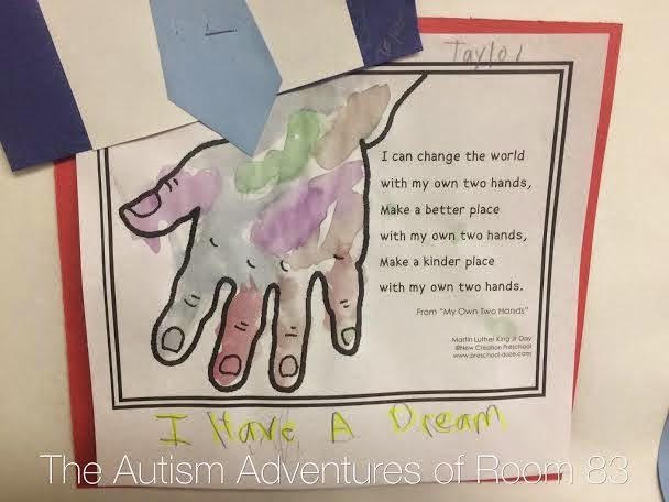 Martin Luther King Day Craft - The Autism Adventures of ...