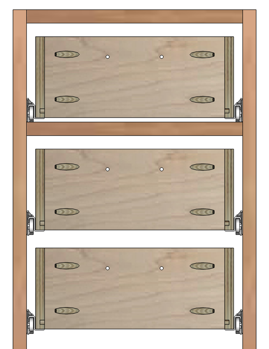 Kitchen cabinet drawer slide types - Non Constrained Height