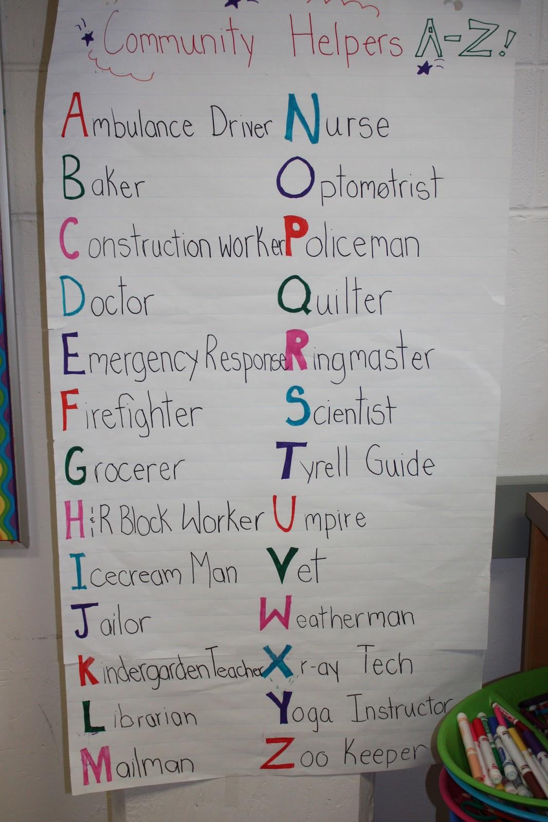 Kindergarten And Kate Spade Community Helpers