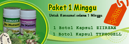 paket obat kanker 1 minggu 1 botol ziirzax ekstrak daun sirsak dan 1 botol typhogell ekstrak keladi tikus paket pengobatan kanker untuk satu minggu dari de nature indonesia