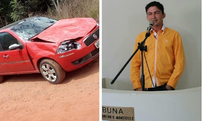 Secretário da Juventude de Anapurus e outras três pessoas sofrem acidente em Buriti