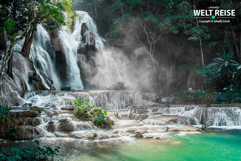 der schönste Wasserfall der Welt ist in Laos, Kuang Si