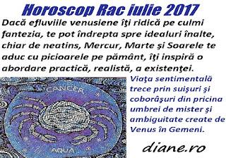 Horoscop iulie 2017 Rac