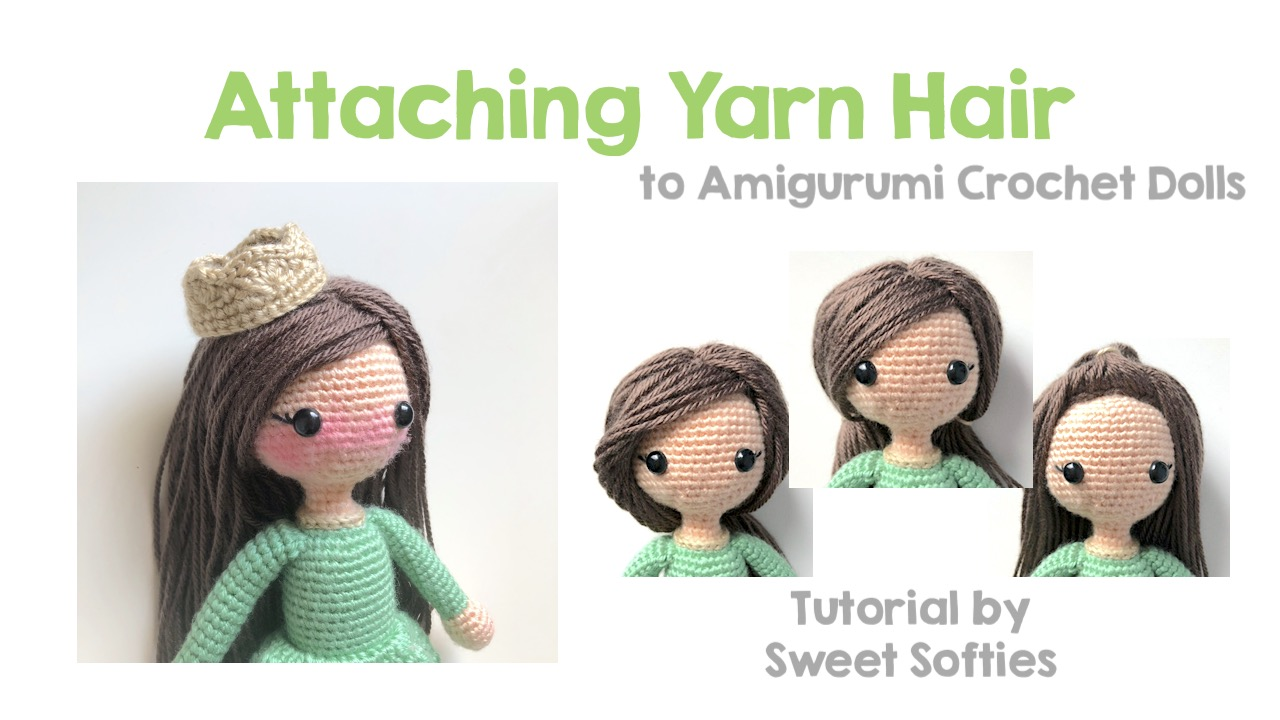 How to sew yarn hair onto your doll diy crafts tutorial.