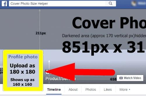 facebook profile image size