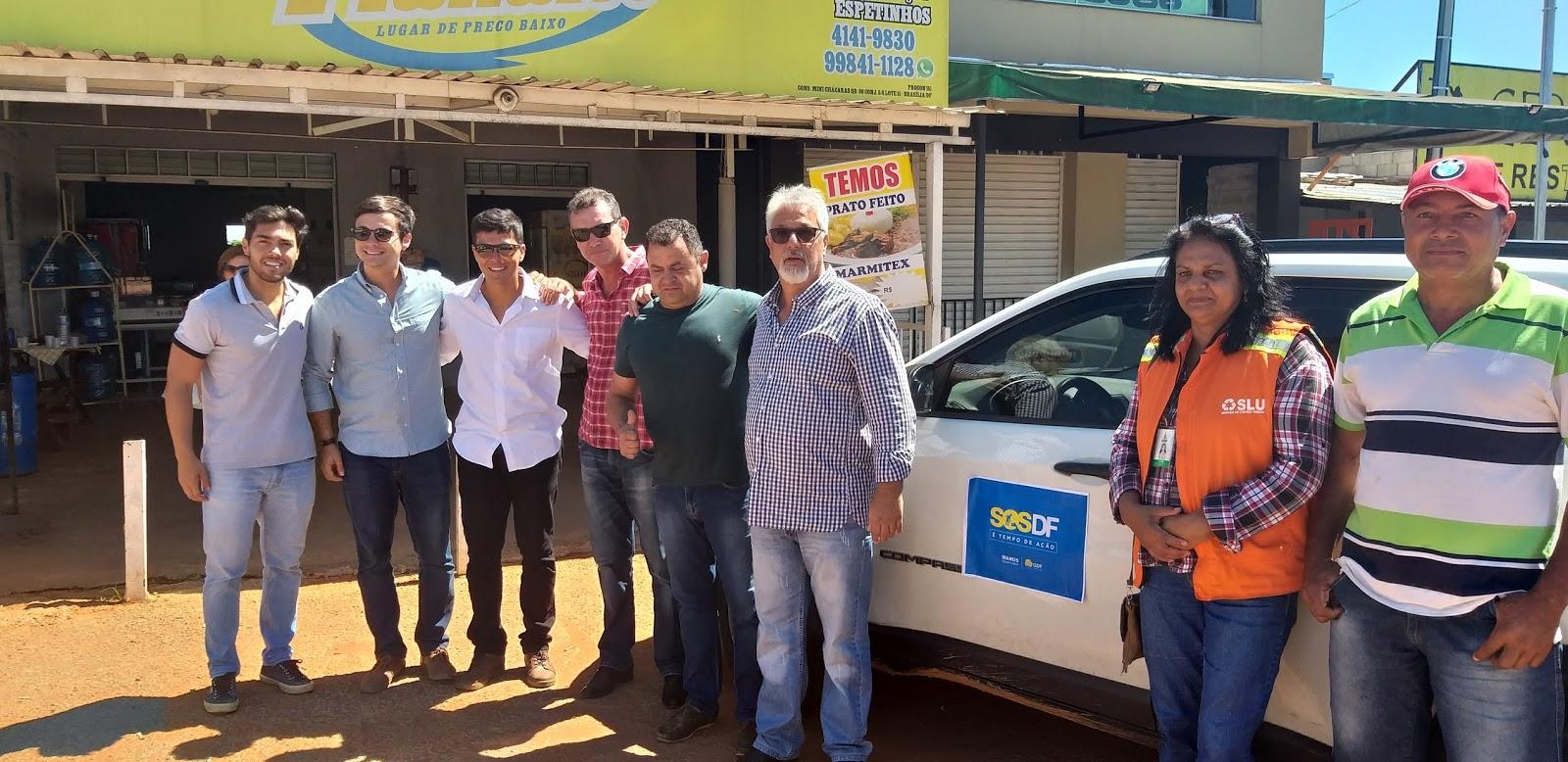 20190114 110745 - O administrador regional do Jardim Botânico, João Carlos Lóssio lançou, nesta segunda feira, ações de limpeza nas ruas que acontecerão de 14 a 16 de janeiro de 2019. SOS DF