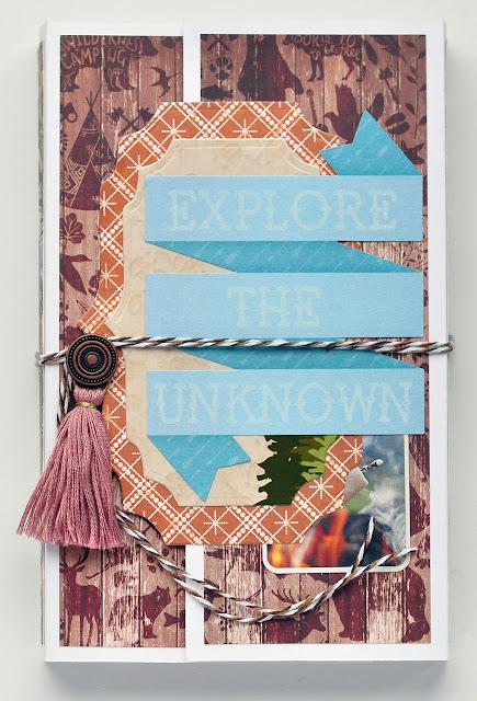 Bo Bunny Take a Hike mini album @akonitt #minialbum #by_marina_gridasova #bobunny #takeahike #paper