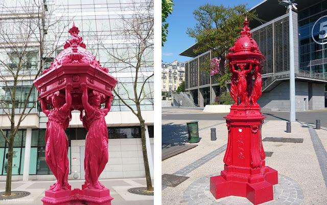 kolorowe fontanny w Paryżu