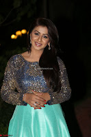 Nikki Galrani in Green Skirt  Top at Marakathamani music launch ~  Exclusive (59).JPG