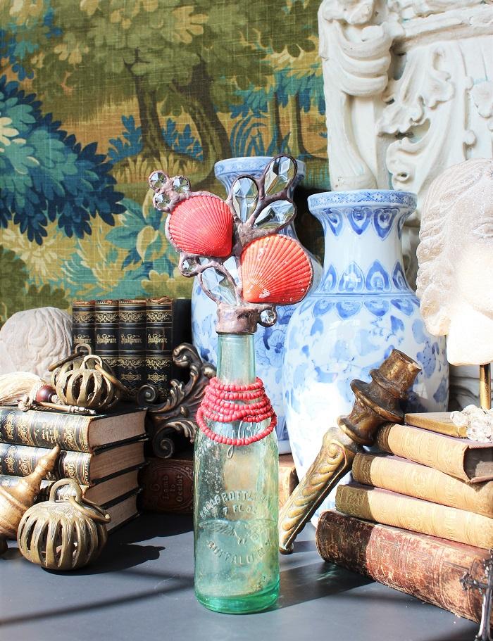 crystal cross bottles shell bottles interior decor