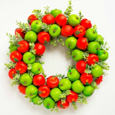 An apple wreath that will last forever!