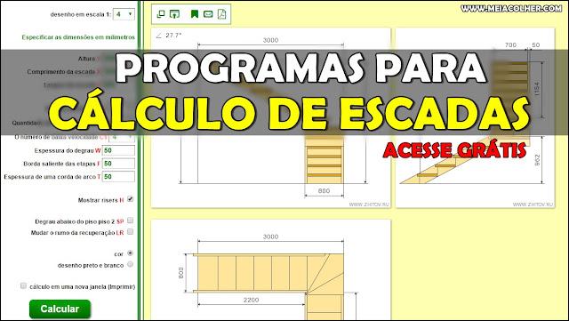 programa para calculo de escada
