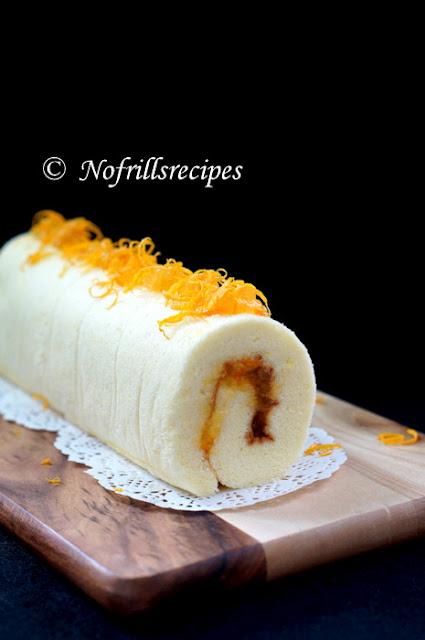 Orange Swiss Roll with marmalade ~ 香橙瑞士卷蛋糕