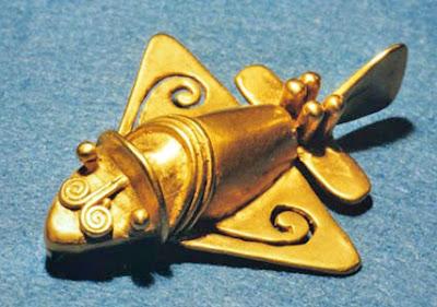Aeroplano de oro, Museo del Oro en Bogotá, Colombia