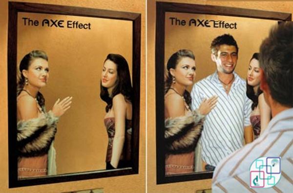 """مرآة على الحائط معدلة من""""Axe"""" هذا ما يحدث عندما تستخدم Axe"""