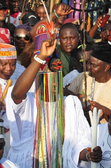 Photo: Ooni Ogunwusi Wears Aare Crown For The First Time At Olojo Festival In Osun
