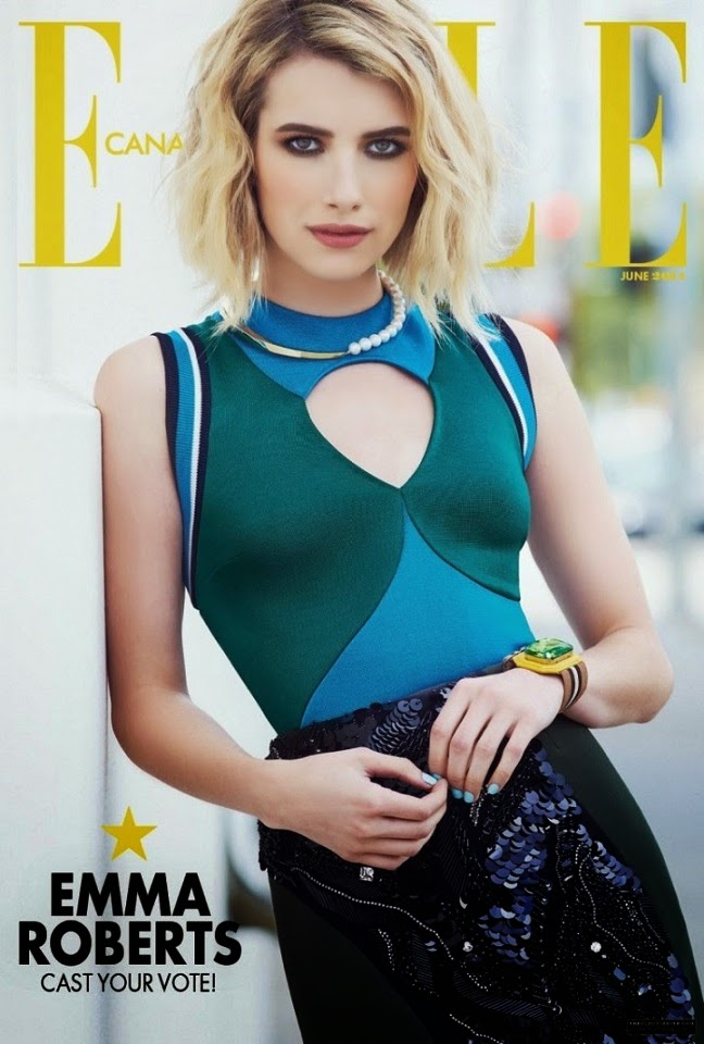 Emma Roberts for Elle Canada Magazine (June 2014)
