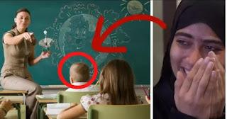 طفل يبكي المعلمة بهذا السؤال