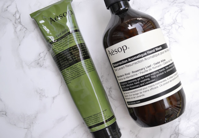 Aesop Geranium Leaf Body Scrub Resurrection Aromatic Hand Wash Review